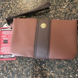 Stone &Co leather phone charging wristlet
